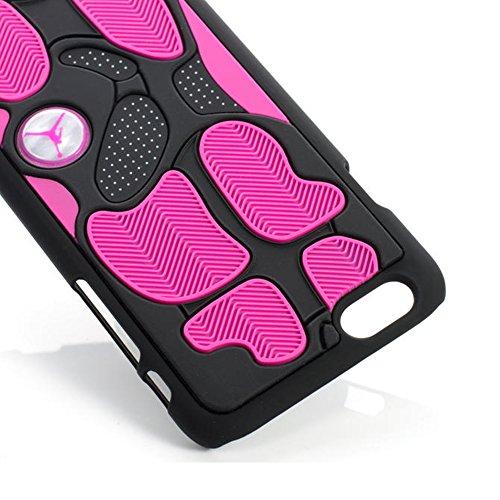 Techcity Michael Jordan Purple Iphone 6 3d Silicone Skin Hard Plastic Inner Case Rubber Feels Looks Like the Sneaker Sole