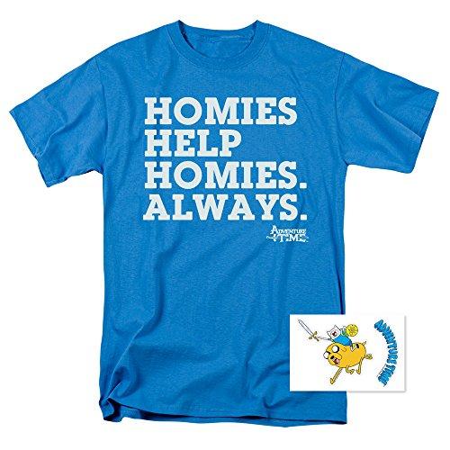 Adventure Time Homies Help Cartoon Network T Shirt & Exclusive Stickers (Adventure Time Shirt)