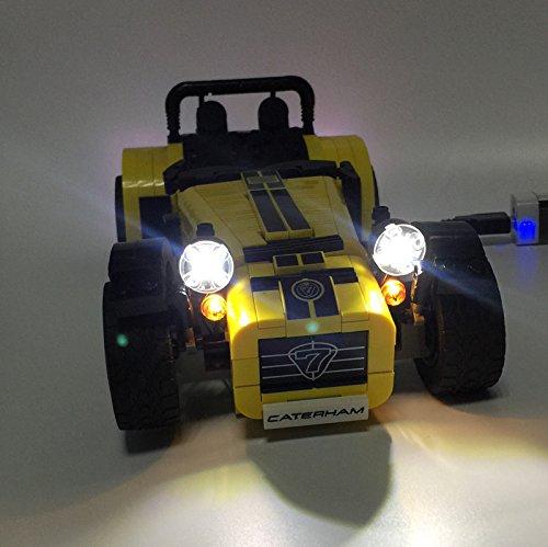 [해외] LEGO 레고 아이디어 21307 21008 호환 케이터햄 슈퍼 세븐 LED 라이트 키트