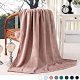 "Luxury Flannel Velvet Plush Throw Blanket - 50"" x 60"" (Pink) by Exclusivo Mezcla"