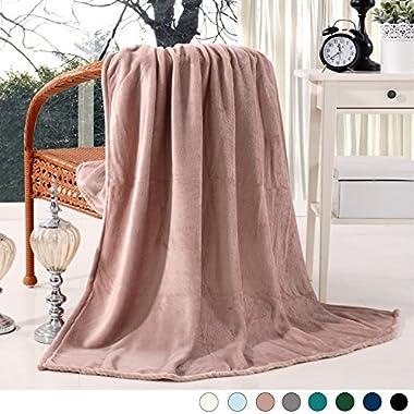 Luxury Flannel Velvet Plush Throw Blanket - 50  x 60  (Pink) by Exclusivo Mezcla