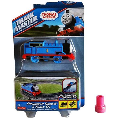 10 Pc  Fisher Price Motorized Thomas The Train   8 Track Pieces Motorized Thomas   Track Set W  Zigzag Layout Capability   1 Assorted Thomas Stamp   Track Master Motorized Railway