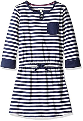 Scout + Ro Girls' Stripe Dress with Patch Pocket