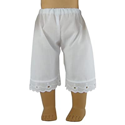 """Doll Clothes Sew Beautiful White Pantaloons for 18"""" Historical Dolls such as American Girl by: Toys & Games"""