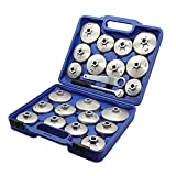 FairOnly 23pcs/Set Aluminum Alloy Cup Type Oil Filter Cap Wrench Socket Removal Tool