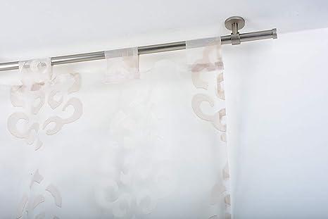 Bastone Tenda A Soffitto.Incasa Bastone Per Tende O 20 Mm Senza Anelli L 160 Cm In Acciaio Satinato Completo