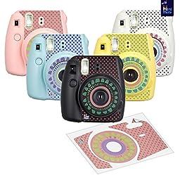 MiniMate FujiFilm Instax Mini 8 Camera with 40 Instax Film and Accessory Bundle, Blue