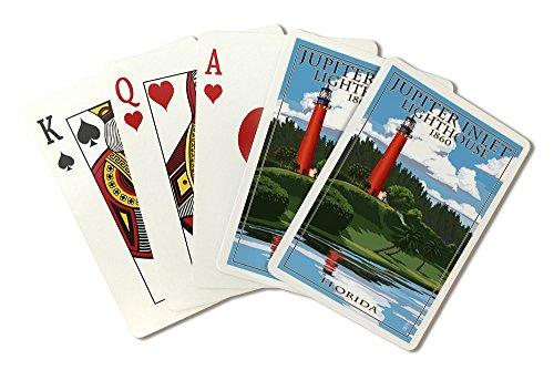Jupiter Inlet Lighthouse - Jupiter, Florida - Jupiter Inlet Lighthouse (Playing Card Deck - 52 Card Poker Size with Jokers)