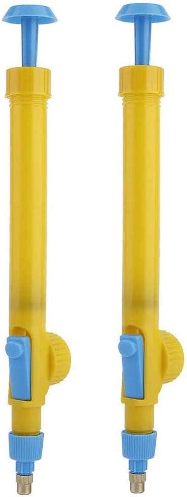 ADJU - 2 cabezales de pulverizador manual para botellas, mini botellas de zumo de plástico con forma de carretilla, bomba de presión universal para riego de jardín en el hogar