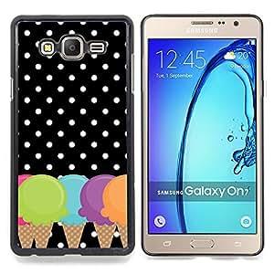 """S-type Cono Lunares Negro Blanco"""" - Arte & diseño plástico duro Fundas Cover Cubre Hard Case Cover For Samsung GALAXY On7 / GALAXY O7 /GALAXY Mega O7 / G6000 / G600FY"""