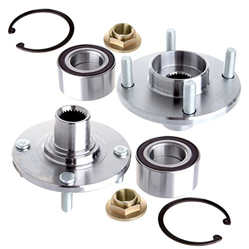 ECCPP 2 PCS New Wheel Hub And Bearing Assemblies fits 2000-2011 Ford Focus (Wheel Hub 2 Pcs Car)