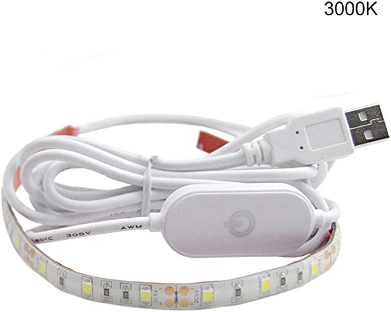 Sewing Machine Light Adhesive Strip LED Light USB Powered Dimmable With Touch