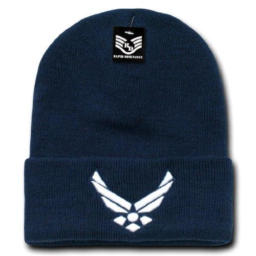 Classic Logo Beanie - Military Logo Classic Long Cuffed Acrylic Winter Beanie Skull Caps S81 Wing