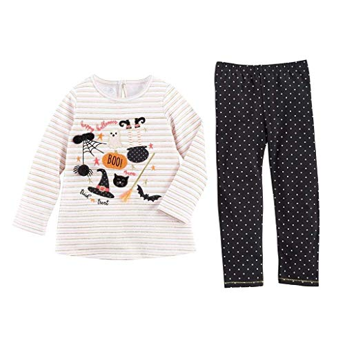 Mud Pie For Halloween (Mud Pie Girls' Long Sleeve and Pant Set, Black and White, 12-18)