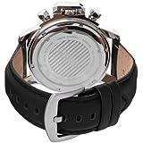 Akribos XXIV Mens AKR469WT Conqueror Multifunction Stainless Steel Swiss Quartz Strap Watch