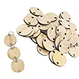 Wooden Round Discs-YuQi DIY Birthday Board And Rings(Set Of 50)