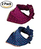WZPB Dog Bandana Bibs Triangle Head Scarf Accessories Neckerchief for Pet Dog and Cat(2 Pack)