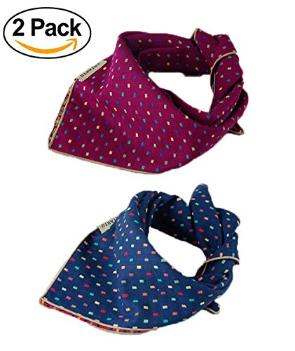 WZPB Dog Bandana Bibs Triangle Head Scarf Accessories Neckerchief for Small to (Pet Bandana)
