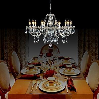 Ella Fashion? Luxurious K9 Crystal Chandelier Lighting Fixture Flush Mount Pendant Ceiling Lamp 6 LED Lights
