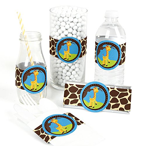 Giraffe Boy - DIY Party Supplies - Baby Shower or Birthday Party DIY Wrapper Favors & Decorations - Set of 15 ()