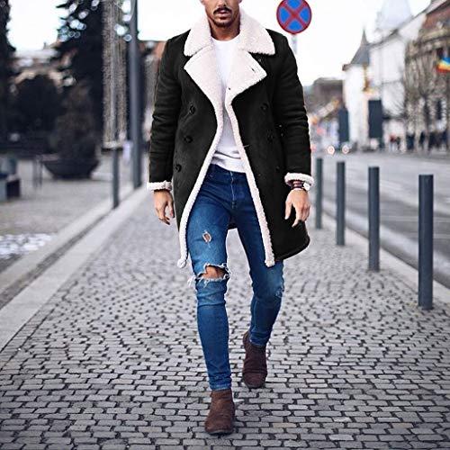 Mens Coat Warm Winter Trench Coat Long Outwear Coat Overcoat Coats Slim Coat
