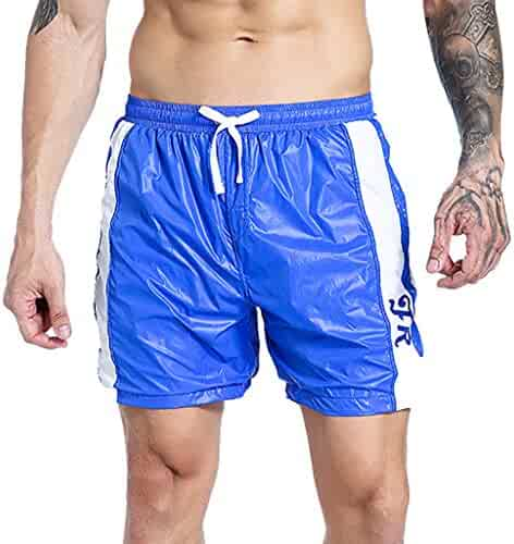 Dainzuy Mens Classic Fit Shorts Casual Jogger Gym Workout Short Pants with Elastic Waist Loose Drawstring Trouser Athleisure