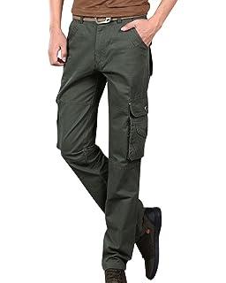 ShiFan Herren Cargo Hose Outdoor Freizeithose Mit Mehrere Tasche Gerades  Bein Arbeitshose 629adb41b9
