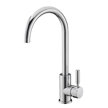 Easy Fit Modern Simple Chrome Single Lever Kitchen Sink Taps, Good Value Kitchen  Taps