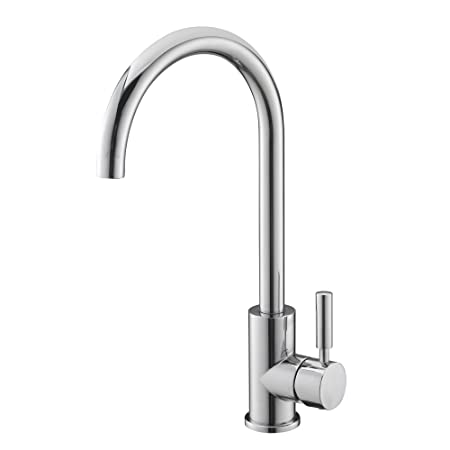 Easy Fit Modern Simple Chrome Single Lever Kitchen Sink Taps Good