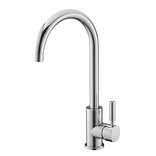 Easy Fit Modern Simple Chrome Single Lever Kitchen Sink Taps, Good ...