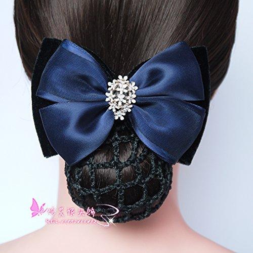 Career head flower headdress Bank Hotel New work hairnet hairpin flower head stewardess nurse hairnet string bag for women girl lady