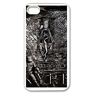 Skyrim for iPhone 4,4S Cell Phone Case & Custom Phone Case Cover R42A650591