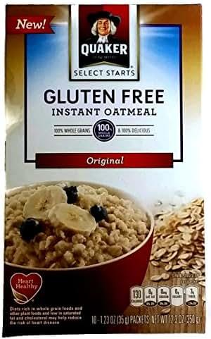 Oatmeal: Quaker Instant Gluten Free