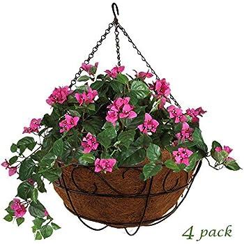 """Wholesale Lot of Twelve COCO FIBER LINED HANGING FLOWER BASKETS 12/"""" Wide 12"""