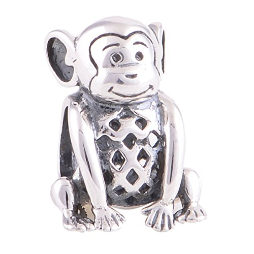 Bo Rong Antique Jewelry Hollow Monkey Charm Bead Animal Charms Bracelets