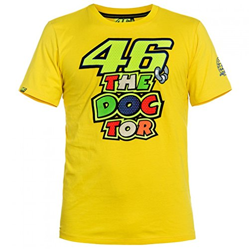Valentino Rossi VR46 The Doctor Moto GP T-shirt Yellow Official 2016 (Moto Gp Merchandise compare prices)