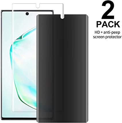 pas de taxe de vente nouveau authentique en ligne 2 Pack GBBO Note 10 Screen Protector, Flexible TPU Case-Friendly  Anti-Bubble, HD Clear Flexible Film, Edge to Edge Protection, for Samsung  Galaxy Note ...