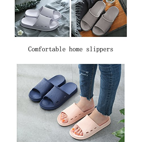 Grey Home Open Slides Women Bath Men Sandals Slippers Toe Slipper 01 Shower Shower Indoor Bathroom Shoes for TAqZBzWw