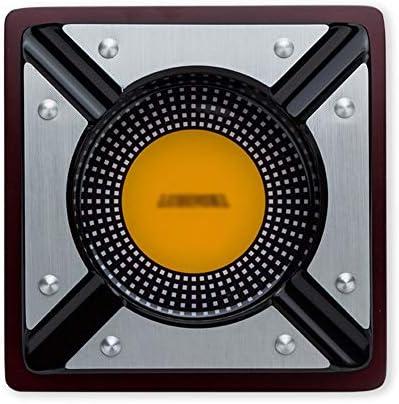シガー灰皿チタンメタル4スロットシガー灰皿ソリッドウッド灰皿レトロクリエイティブパーソナリティ