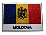 Republic of Moldova Moldovan Moldovian National Flag Sew on Patch Free Shipping
