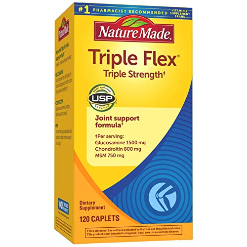 Nature Made Triple Flex Triple Strength Caplets, 120 Count for Joint Support† (Packaging May Vary)