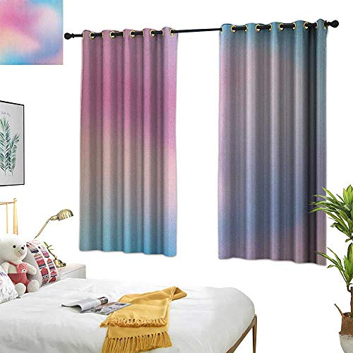Burgundy Curtains Pastel,Abstract Blurry Colors Composition Sweet Daydream Fantasy Miscellaneous, Pink Aqua Peach White 72x96,Home Garden Bedroom Outdoor Indoor Wall Decorations