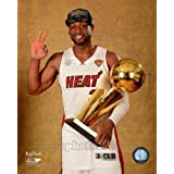 Dwyane Wade with the NBA Championship Trophy Game 7 of the 2013 NBA Finals Sports Photo (8 x 10)