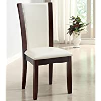 247SHOPATHOME IDF-3710WH-SC Dining-Chairs, White