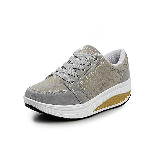 Shoes Shoes Fashion Summer Muffin pit4tk Mother Shoes Shoes Grey Casual Bottom New Thick Shaking xwRwqIX0