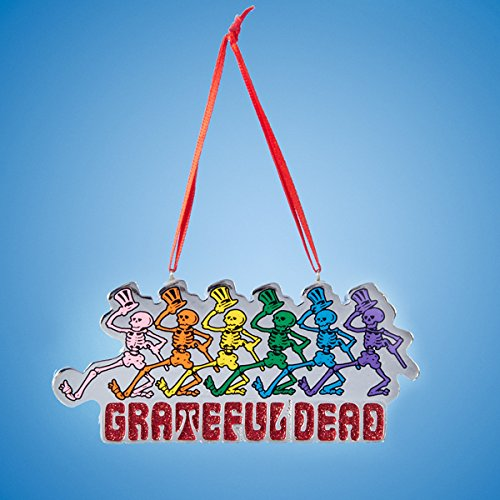 Grateful Dead Christmas Ornament.Grateful Dead Skeletons With Top Hats Christmas Ornament Import It All
