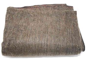 65f39482095e2 Super Soft Alpaca Wool Hand-Woven Throw Blanket (Dark Brown Earth Tone  Black Highlights