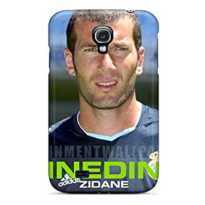 High Impact Dirt/shock Proof Case Cover For Galaxy S4 (the Legend Of Football Zinedine Zidane Under The Sun)