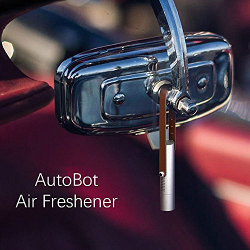 AutoBot Lucky: Car Vent Air Freshener | Vehicle Purifier | Aroma Diffuser (with 2 Scented Bars & 10ml Essential Oil | also for Home Office Travel and More) [Nature Series](Sliver) (Deodorant Liquid Perfume)