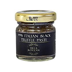 Truffles. Imported Italian Black Truffle Paste. Pure Truffle. Ideal For Creating Exquisite Gourmet Dishes: Pasta, Risotto, Sauces, Gravies, & More. 30 Grams. 1.05 Oz.